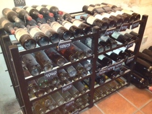 A few dusty bottles at Ch. Pape-Clement