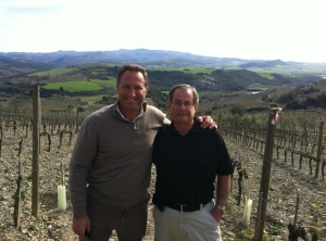 With Alberto Passeri in La Gerla's vineyard
