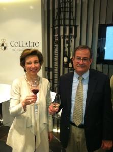 With Princess Isabella of Collalto