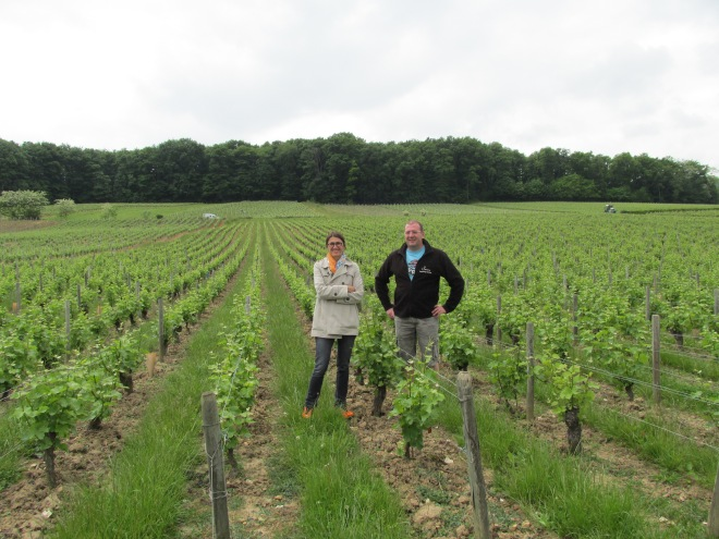 Christine and Franck Laloue of Domaine Serge Laloue