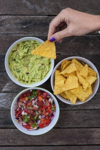 Guacamole and salsa