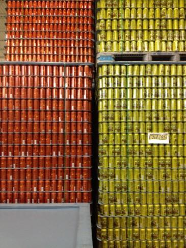 Cans at Uinta Brewing Company