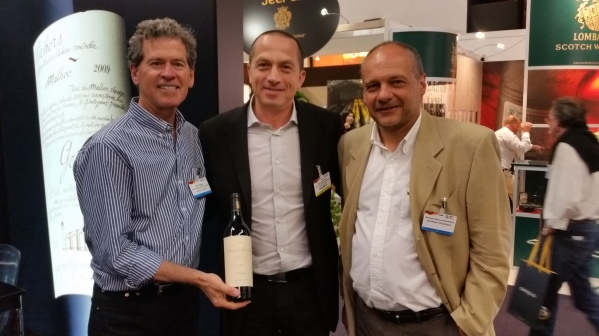 Paul Hobbs, Atanas and Bertrand-Gabriel Vigouroux at Vinexpo 2015
