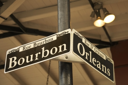 New Orleans street signs at intersection