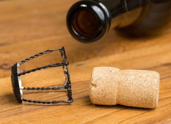 Champagne style cork belgium beer bottle