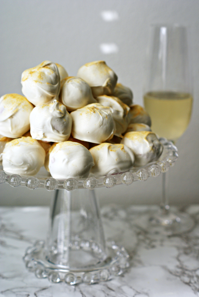 Strawberries and Champagne Truffles