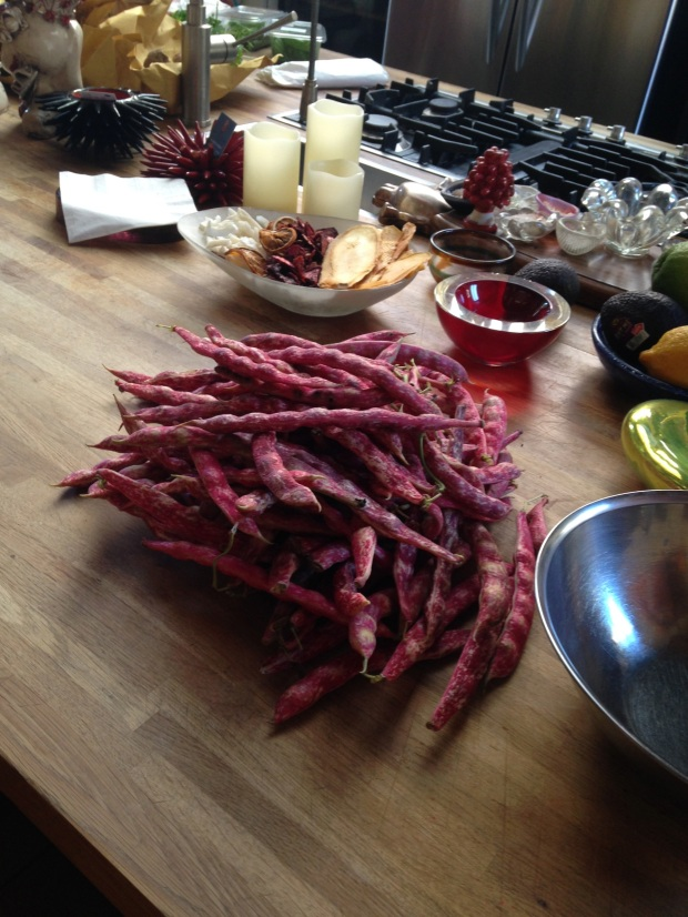 Jan. 12 - Fresh Italian beans in Enrica's Venice Loft Kitchen.jpeg