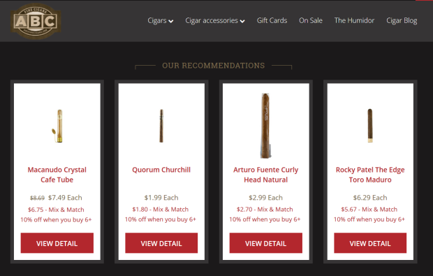 abcfinecigars recommendations.PNG