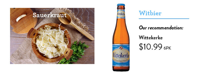 Saurkraut and Witbier